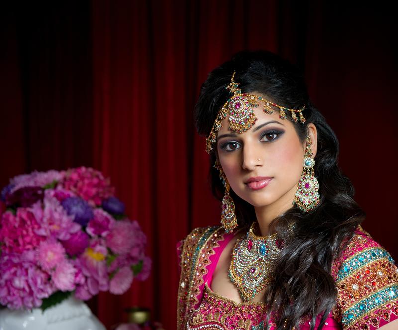 Indian bride Santorini wedding Greece