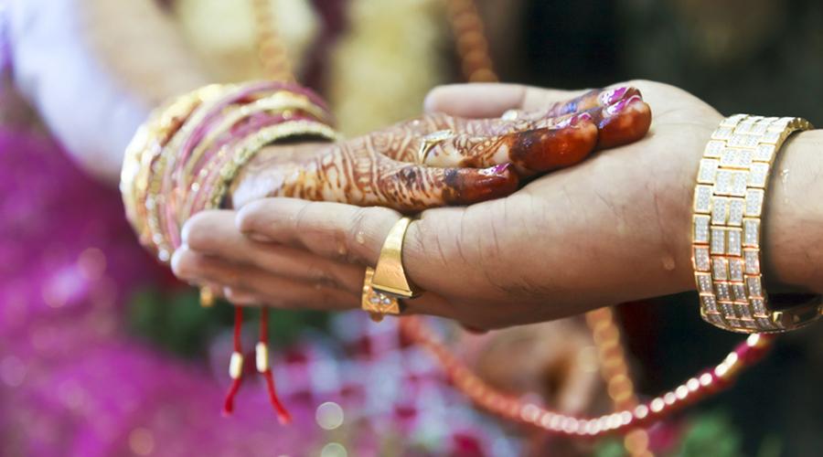 Indian wedding bride in Greece