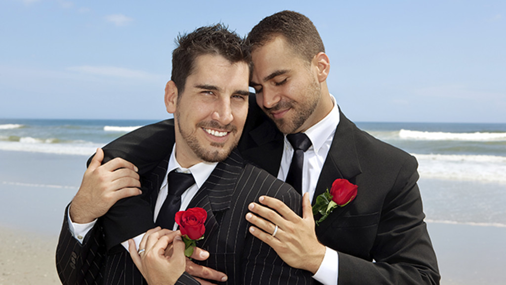 Two gay grooms in Greece after their wedding