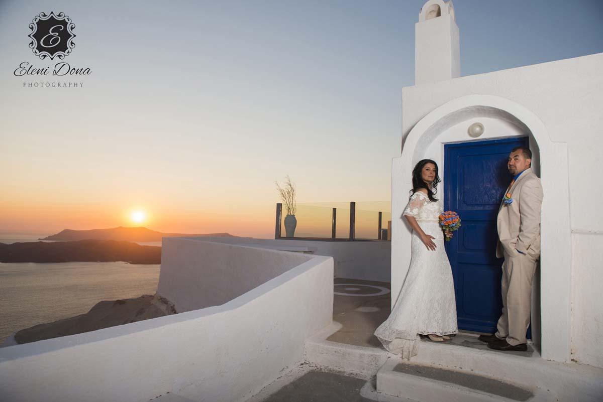 Wedding planner services in Santorini Greece
