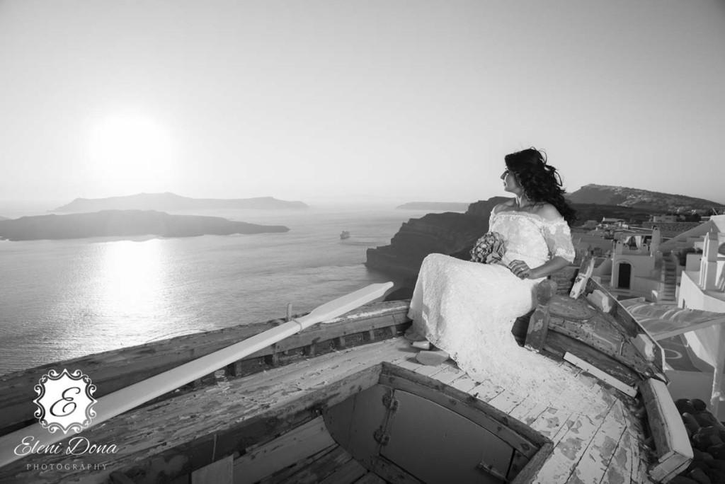 photoshooting santorini wedding