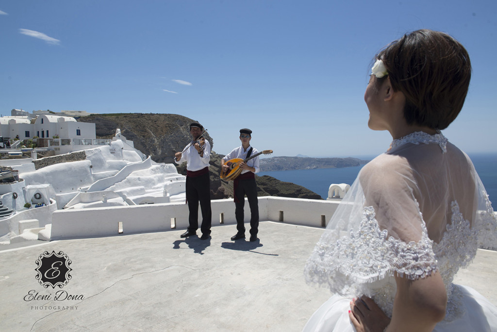 St. Irini wedding venue in santorini