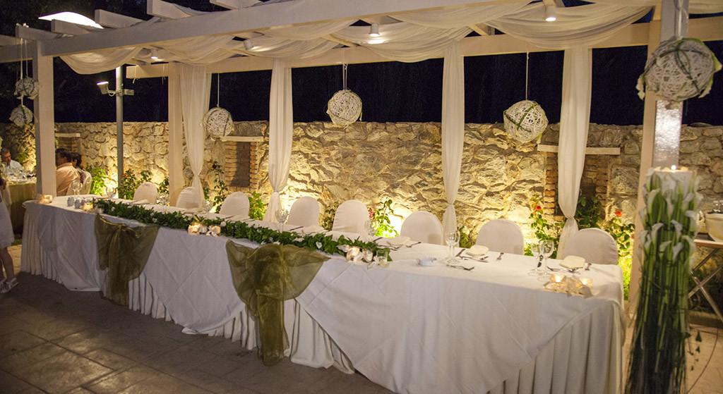 wedding reception in Greece by wedding planner