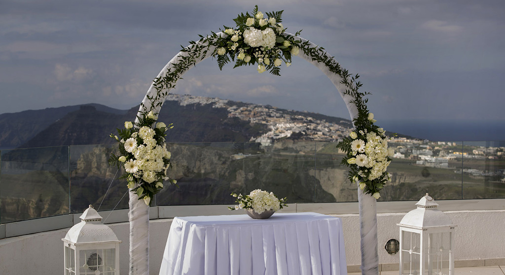 wedding planner santorini venue