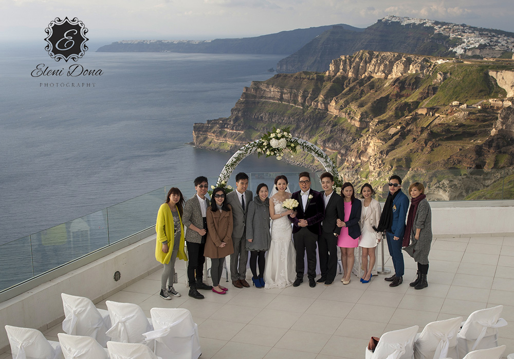santorini wedding venue winery