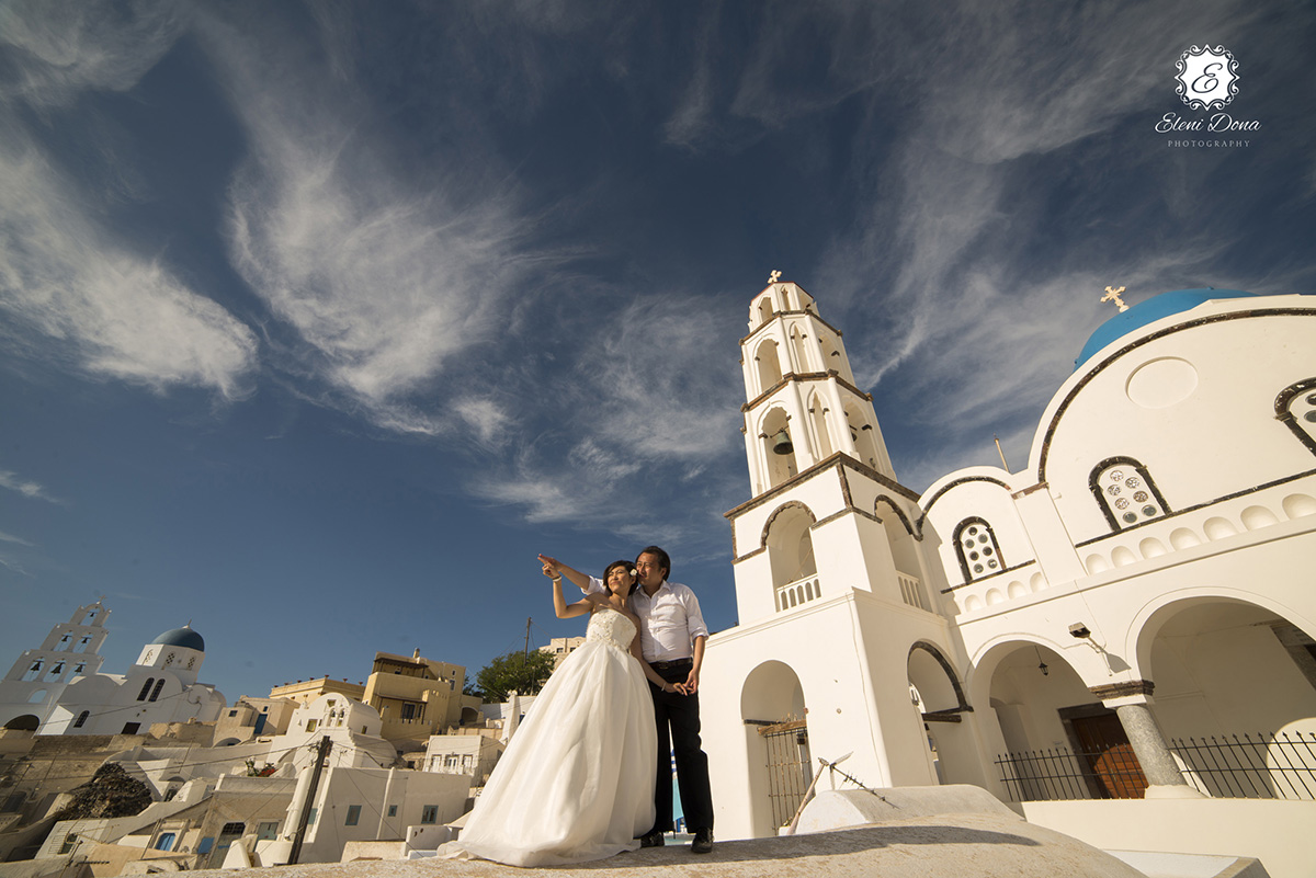 pyrgos village santorini wedding