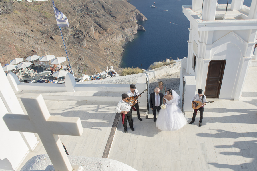 Greek wedding in Santorini island