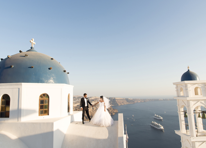 Wedding in Santorini island